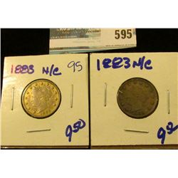 1883 NO CENTS V NICKEL AND GOLD 1883 NO CENTS RACKETTEER NICKEL