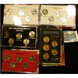 2005 PLATINUM EDITION STATE QUARTER SET, 2007 SATIN FINISH STATE QUARTER SET, 2006 GOLD PLATED STATE