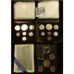 1986 CANADIAN PROOF SET, 1974 CANADIAN COIN SET, AND 1972 CANADIAN MINT SET