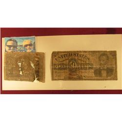 50 CENT FRACTIONAL NOTE WITH ABRAHAM LINCOLN AND LOW GRADE 50 CENT POSTAL FRACTIONAL NOTE WITH GEORG
