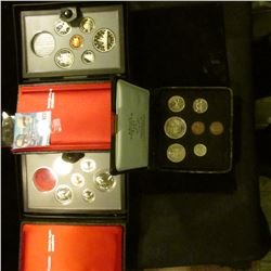 1985 DOUBLE DOLLAR PROOF SET MISSING THE SILVER DOLLAR, 1974 CANADIAN MINT SET, AND 1980 DOUBLE DOLL