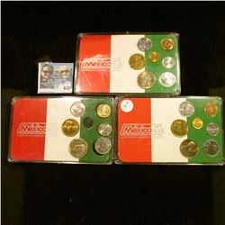 THREE 1986 MEXICAN COIN SETS