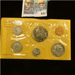 1968 LIBRIA PROOF SET MINTED AT THE UNITED STATES.  THIS IS ONE OF ONLY 14,396 SETS MADE THAT YEAR.