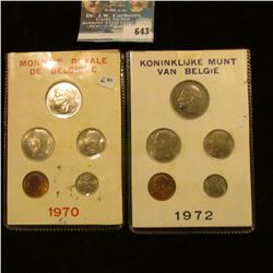 TWO BELGIUM COIN SETS