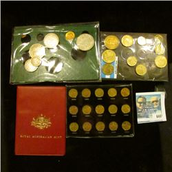 MEXICAN ONE CENTAVO SET FROM 1950-1964, COINS OF MEXICO COIN SET, ARGENTINA COIN SET, AND AUSTRALIA
