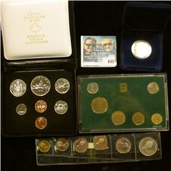 1975 CANADIAN COIN SET, ISRAELI COIN SET, BAHAMAS COIN SET,  AND PROOF 1987 CANADIAN DOLLAR