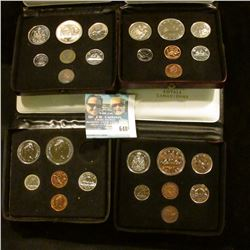 1985 CANADIAN PROOF SET, 1974 CANADIAN COIN SET, 1976 CANADIAN COIN SET, 1977 CANADIAN COIN SET, AND