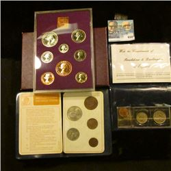 1970 BRITISH PROOF SET AND TWO PASSPRT STYLE BRITISH COIN SETS