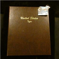UNITED STATES TYPE BOOK- THERE ARE SLOTS FOR HALF CENTS, SMALL CENTS, LARGE CENTS, NICKELS, HALF DIM