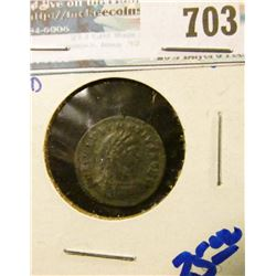 BRONZE ROMAN COIN MINTED FROM 335-337 AD WITH THE EMPEROR DELMATIUS
