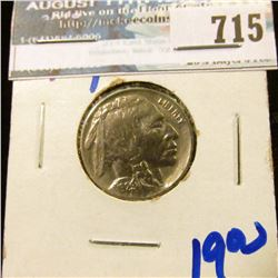 1929 BUFFALO NICKEL WITH FULL HORN