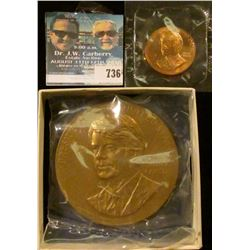 JIMMY CARTER THREE INCH BRONZE MEDAL AND MINI MEDAL