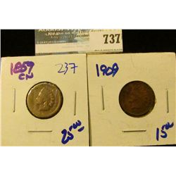 1859-CN, 1864, AND 1909 INDIAN HEAD CENTS