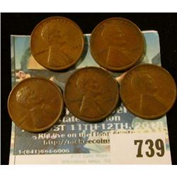 5 1909-VDB WHEAT CENTS