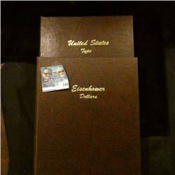 EINSENHOWER COIN BOOK AND DANSCO UBITED STATES TYPE SET COIN BOOK