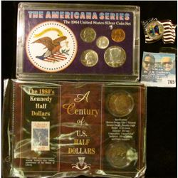 THE 1980'S KENNEDY HALF DOLLARS SET, COLORIZED NEW YORK STATE QUARTER, AND THE AMERICAN SERIES COIN