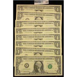 8 CRISP AND CONSECUTIVE ONE DOLLAR STAR NOTES SERIES 1995