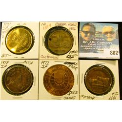 (5) Different Iowa Centennial Medals, includes: Amber, Cedar Rapids, Auburn, Alta, & Adair, Iowa.