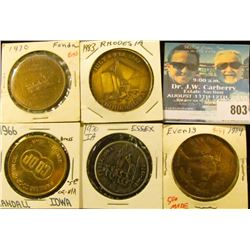 (4) Different Iowa Centennial Medals, includes: Fonda, Everly, Essex, Rhodes/Edenville, Iowa & 1916-