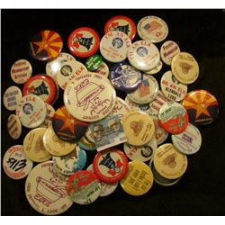 (50) Miscellaneous Pin-backs, many Elks Lodge related.