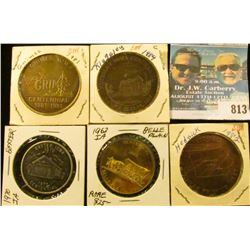 (5) Different Iowa Centennial Medals, includes: Grimes, Kingsley, Hedrick, Baxter, & Belle Plaine, I