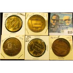 (5) Different Iowa Centennial Medals, includes: Halbur, Ely, Keswick, Gray, & Garrison, Iowa.