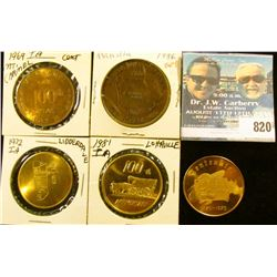 (5) Different Iowa Centennial Medals, includes: Mt. Carmel, Manilla, Lohrville, Lidderdale, & Orange