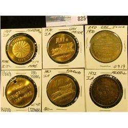 (5) Different Iowa Centennial Medals, includes: Minburn, Van Meter, Rudd, Ridgeway, Red Oak, & Merri