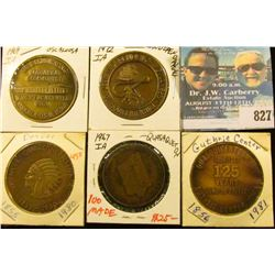 (5) Different Iowa Quasquicentennial Medals, includes: Guthrie Center, Quasqueton, Denver, Independe