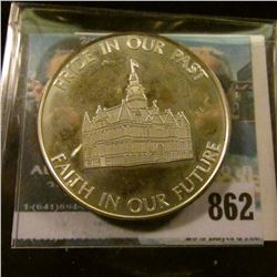 """Adel, Iowa/1847/125th/1972/Quasquicentennial"", ""Pride In Our Past/Faith in our Future"", Serial # 17"