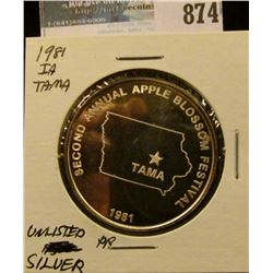 """Tama Apple Blossom Festival/Tama, Iowa"", ""Second Annual Apple Blossom Festival/Tama/1981"", Proof, U"