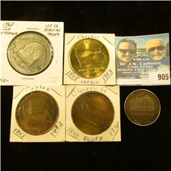 905 _ (5) different Iowa Quasquicentennial Medals, includes: West Union, Clarksville #154, Coggon, C