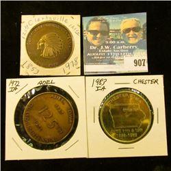907 _  Clarksville Quasquicentennial 1853-1978 , brass, 39mm, BU;  Chester, Iowa/June 11th & 12/1858