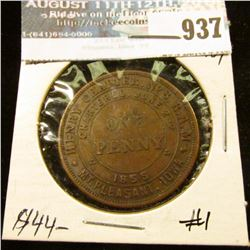 "937 _ ""Henry Chapter No.8 R.A.M./Chartered June 2nd/1855/One/Penny/Mt. Pleasant, Iowa"" Masonic Penny"