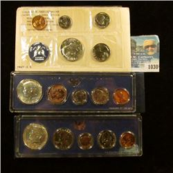 1030 _ 1965, 1966, & 1967 U.S. Special Mint Sets in original holders as issued by the U.S. Mint. Inc