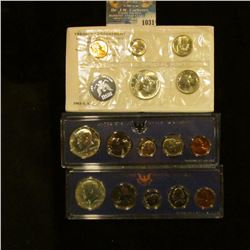 1031 _ 1965, 1966, & 1967 U.S. Special Mint Sets in original holders as issued by the U.S. Mint. Inc