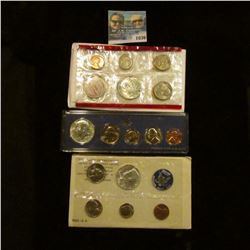 1036 _ 1965, 1967 U.S. Special Mint Sets, & 1968 Silver Mint Set in original holders as issued by th