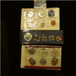 1037 _ 1965, 1967 U.S. Special Mint Sets, & 1968 Silver Mint Set in original holders as issued by th