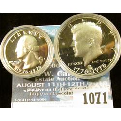 1071 _ 1976 S Silver Proof Bicentennial Quarter & Half-Dollar. Both encapsulated.