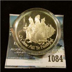 "1084 _ ""O Come All Ye Faithful"", ""Joyful and Triumphant"", Sterling Silver Proof, encapsulated."