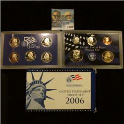 1100 _ 2006 S U.S. Proof Set. Original as issued. Includes Cent to Dollar with Quarter Set.