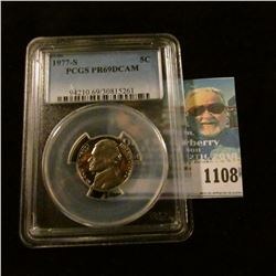 1108 _ 1977 S Jefferson Nickel, PCGS slabbed PR69DCAM NGC Price Guide $20