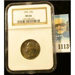 1113 _ 1956 Silver Washington Quarter NGC slabbed MS 66. NGC price guide $55.00.