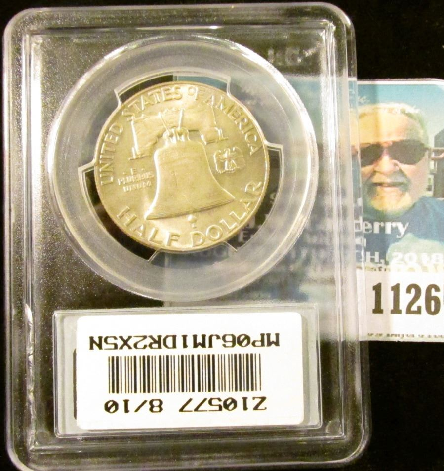 1126 _ 1948 P Franklin Half Dollar  PCGS slabbed MS64FBL  NGC price guide  $75