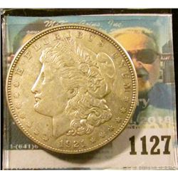 1127 _ 1921 D U.S. Morgan Silver Dollar, VF-EF.