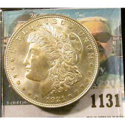 1131 _ 1921 P U.S. Morgan Silver Dollar, Gem BU with Rosy toning.