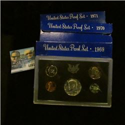 1161 _ 1969S, 70S, & 71S U.S. Proof Sets. All original as issued in boxes.