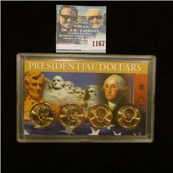 1167 _ Set of P & D Andrew Jackson & Martin Van Buren Presidential Dollars in a special case. (4-pie