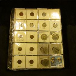 "1178 _ (3) Plastic 2"" x 2"" Pages with an assortment of (47) various Canada Coins, Cents to Dollars;"