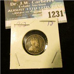 1231 _ 1902 Canada 5 Cent Silver.